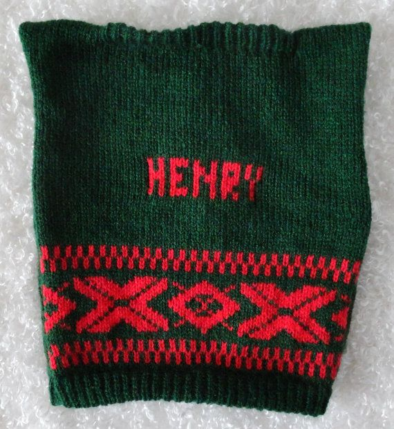 Holiday Dog Sweater with XOX Trim, Personalized with a Name, Choose your Size & Color, Great gift for Pet Lovers, Dog Christmas Sweater No65
