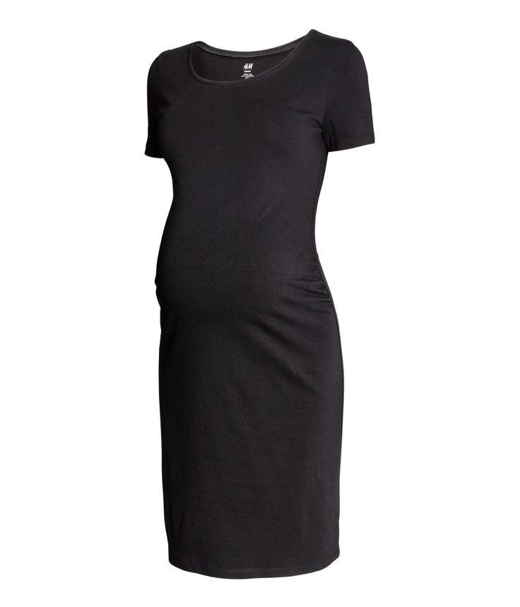 MAMA Jerseykleid | Schwarz | Damen | H&M DE