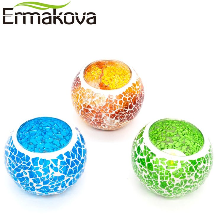 How to Original Price US $8.95 Sale Price US $7.16 ERMAKOVA 6 5cm Handmade Glass Mosaic Candle Holder European Candlestick Tea Candle Holder Home Candlelight Dinner Cafe Decor the recession with one hand tied behind your back #Candles#Holders