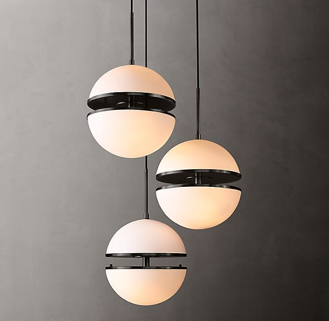 Hemisphere 3 Light Round Chandelier In 2020 Round Chandelier Modern Ceiling Light Ceiling Lights