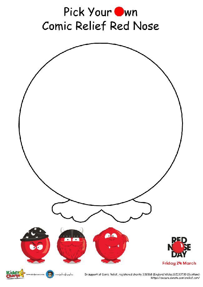 Design your own Red Nose for Red Nose Day - Pick your own nose!