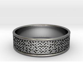 Slavic ring, size 22mm (13US) in Premium Silver