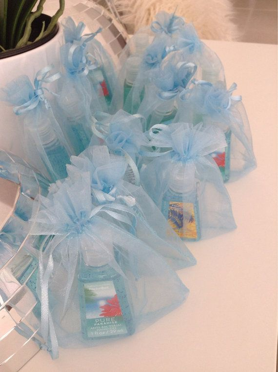 Baby Boy Shower Party Favor in its own baby blue bag