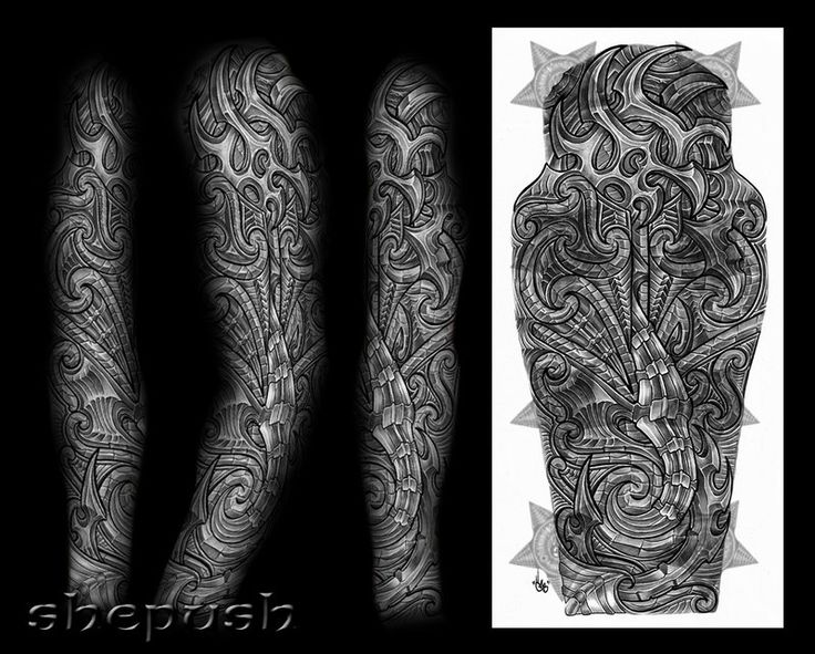 Bio maori mix full sleeve by shepush on deviantart for How to blend tattoos into a sleeve