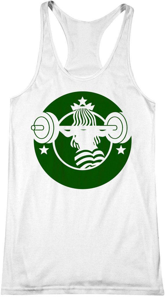 Barbucks 2.0 Starbucks Workout Tank Coffee Fitness by FITUMI