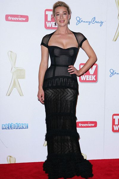 Asher Keddie  Styled by Anita Fitzgerald  Dress by J'Aton Couture