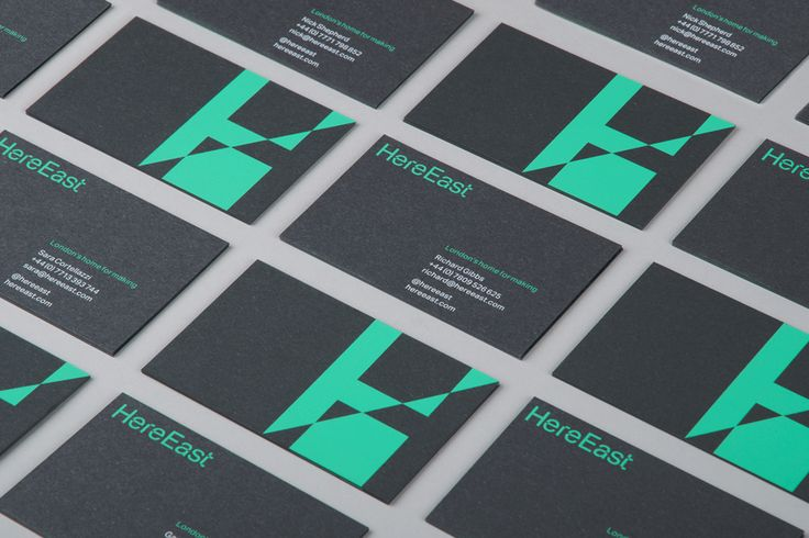 Here East business cards. dn&co.