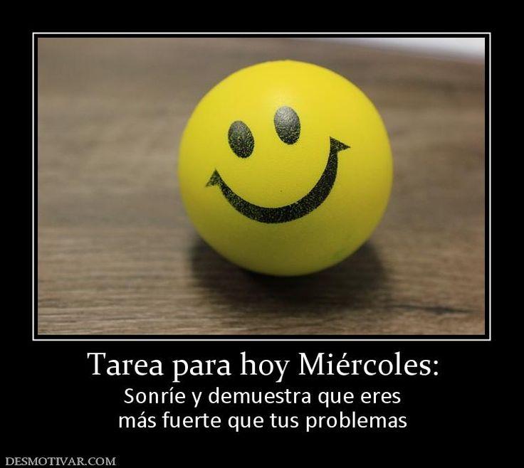 Tarea+para+hoy+Miércoles:+Sonríe+y+demuestra+que+eres+más+fuerte+que+tus+problemas