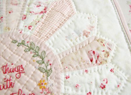 "A Word About Hand Quilting, If You Please ... - Pretty by Hand - Pretty By Hand  Free embroidery pattern ""Do small things with great love"" at http://nanacompany.typepad.com/nanacompany/2012/05/do-small-things-with-great-love-free-pattern.html"