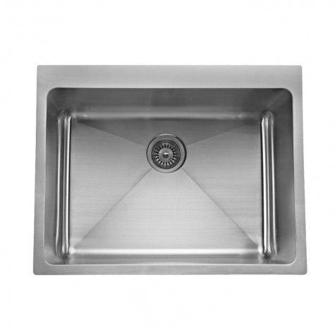 quadro-laundry-trough-70–  650mm(L) x 510mm(W) x 275mm(H) – Modern Brushed Finish – Large Water Capacity: 70L
