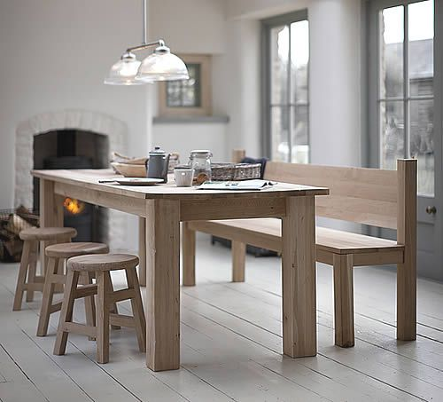 Hampton Oak Table and Benches