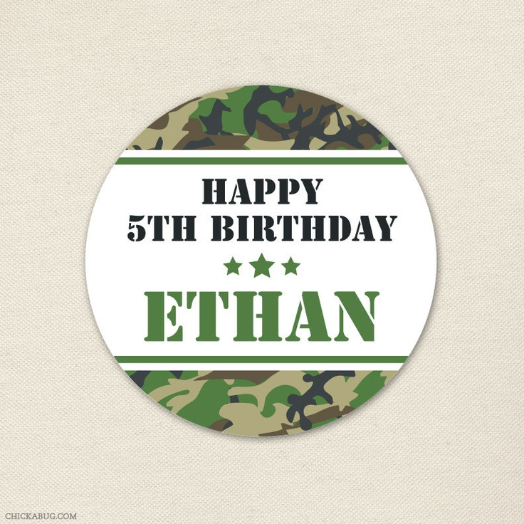 free printable camouflage birthday party invitations%0A Camo or Army stickers from Chickabug