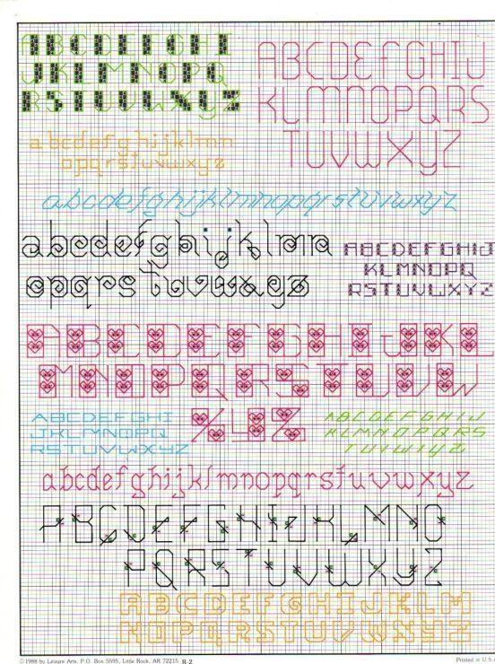 Gallery.ru / Фото #2 - 705 more backstitch alphabets - mornela