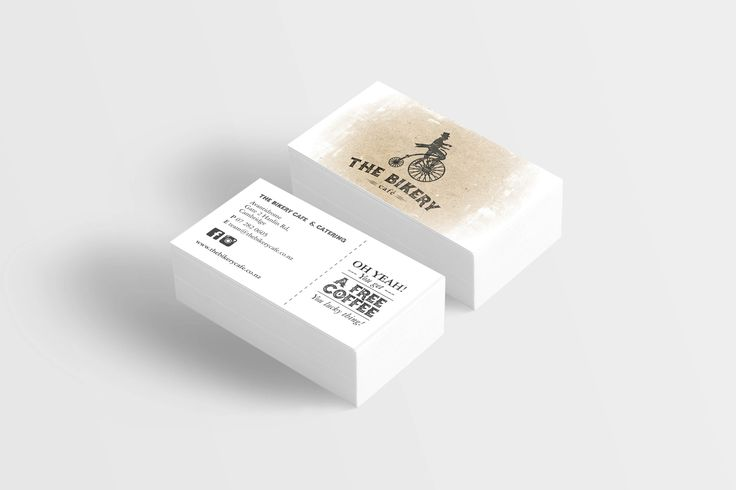 The Bikery Logo and Business Cards designed by Imagine If Creative Studios
