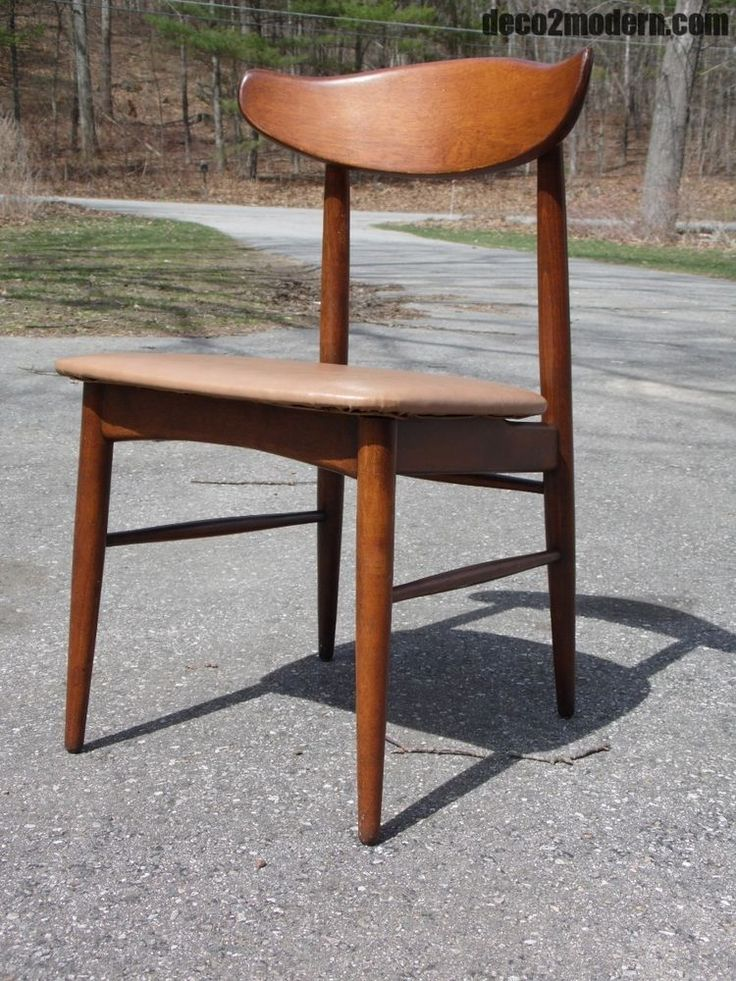 Vintage Mid Century Modern Sculptural Birchcraft By Baumritter Desk Dining  Chair