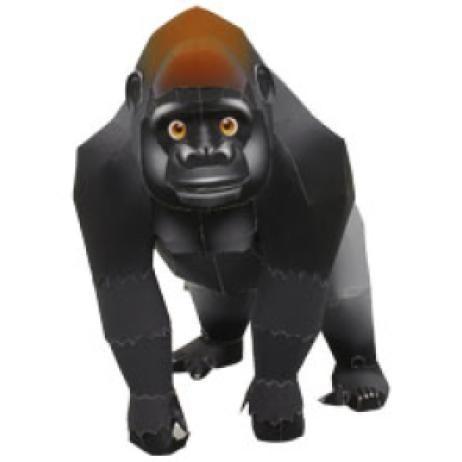 Горная горилла,Животные,Поделки из бумаги,Африка и Средний Восток,черный,Млекопитающие ,Виды, которым угрожает исчезновение,горилла,Животные,Поделки из бумаги,Приматы