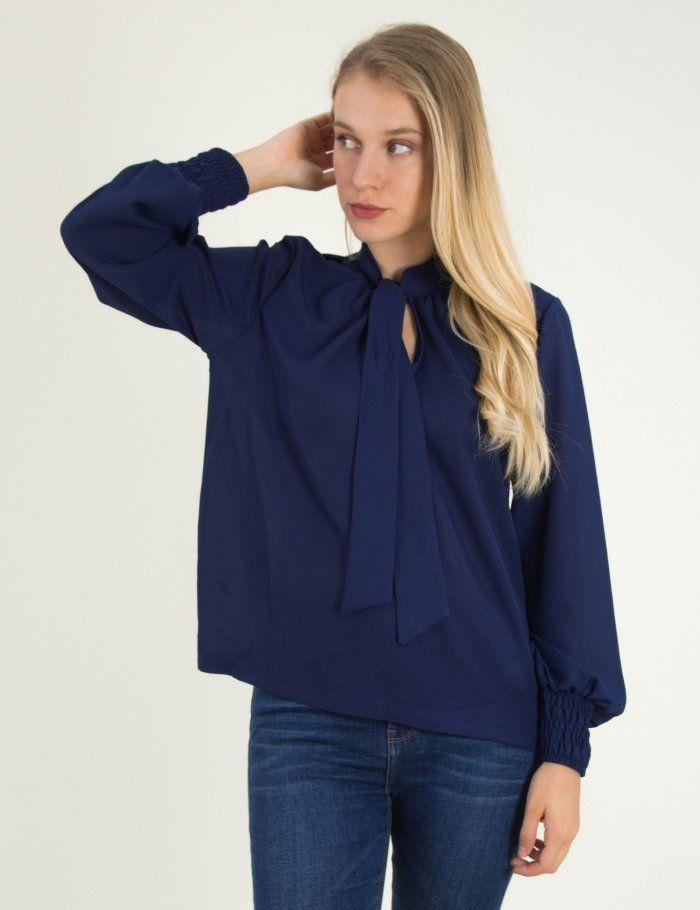 c26305c0d389 Γυναικεία μπλε ημιδιάφανη πουκαμίσα So Sexy κορδέλα 39096G  τορούχο   torouxo  φθινοπωρινά  ρούχα  rouxa  gynaikeia  γυν…