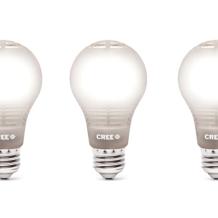 Cree LED Bulbs  My Calculations: 44% the total start-up AND operating cost of fluorescent coil bulbs and have a life 3X longer.