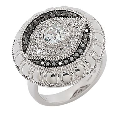Tracey Bregman Topaz & Diamond Evil Eye Sterling Silver Ring