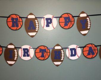 deportes cumpleaños banner fútbol béisbol fútbol baloncesto
