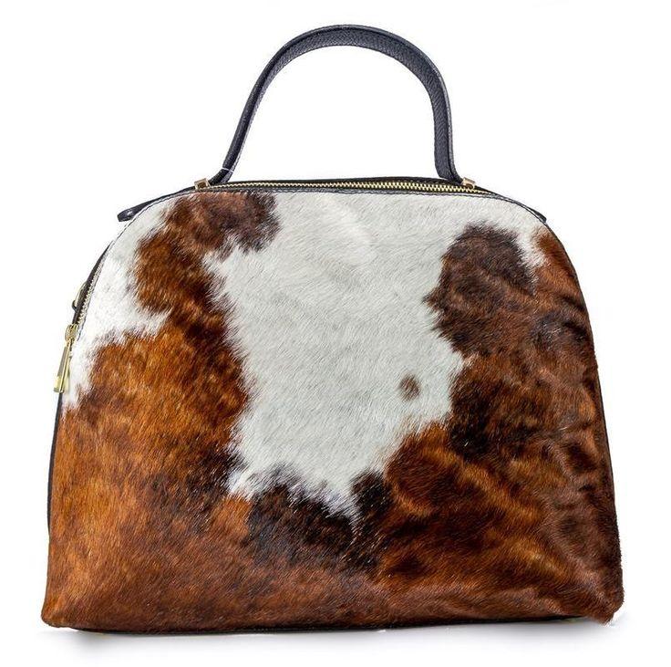 @ Ritzy Bagz ♥ Kožená kabelka BERTINA se srstí ♥ leather handbag with real fur