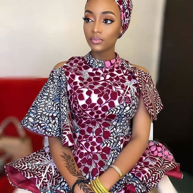 823c1a7abc5 Picture of Simple Ankara Styles 2019 for Ladies – DeZango Faceb… by Zahra  Delong