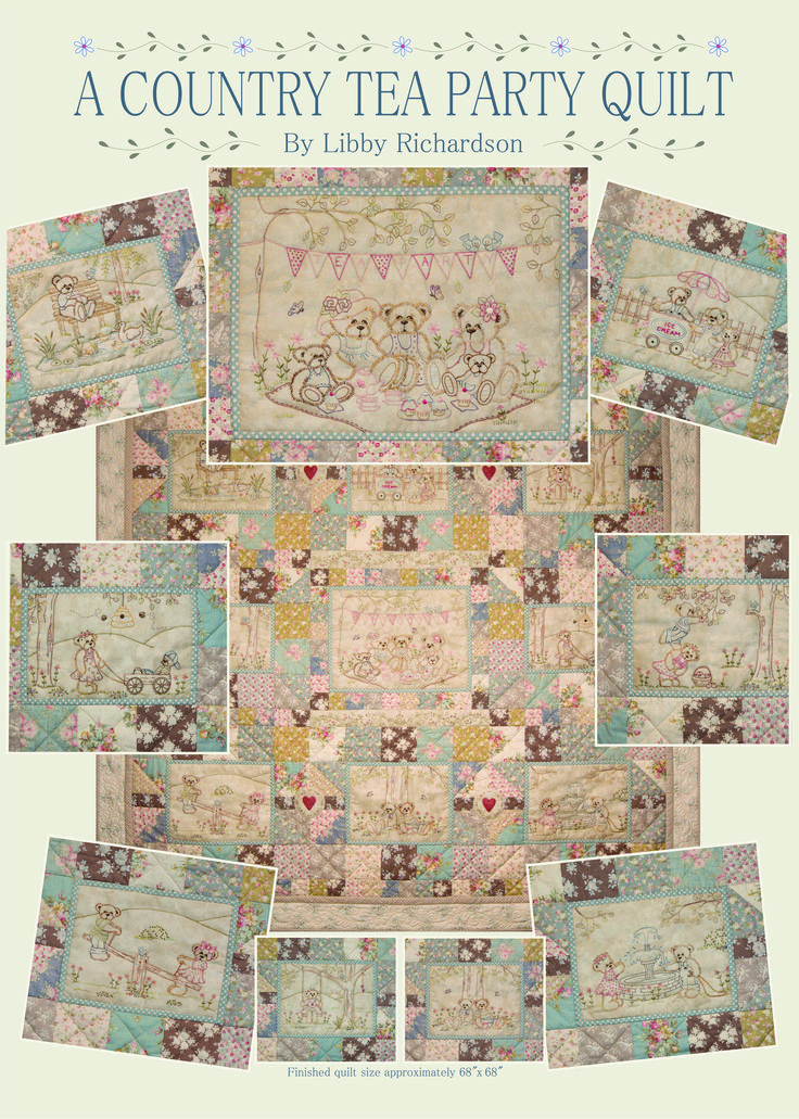 Libby Richardson of Artsmart Craft Cottage's new design for 2015 starts in late March 2015. Pattern set of 10. Available as a Kit or BOM as well. Cottage G