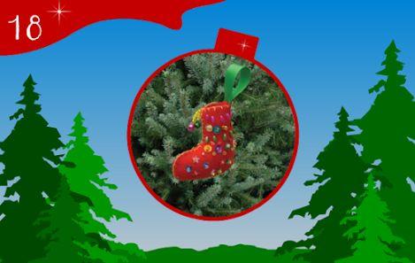 Jour 18 : une petite Botte de Noël ornée de perles pour accrocher dans le sapin. Un kit couture Noël - CREAKIT Loisirs Créatifs