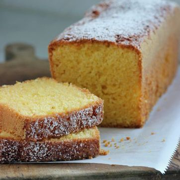 Cornmeal Loaf Cake With Nectarines Recipe — Dishmaps
