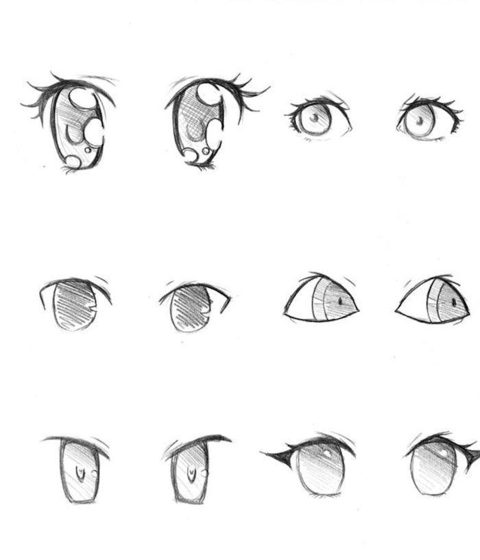 1001 Easy Ideas To Make A Drawing Cute Kawaii Beginner In 2020 Cartoon Eyes Drawing Kawaii Drawings Manga Eyes