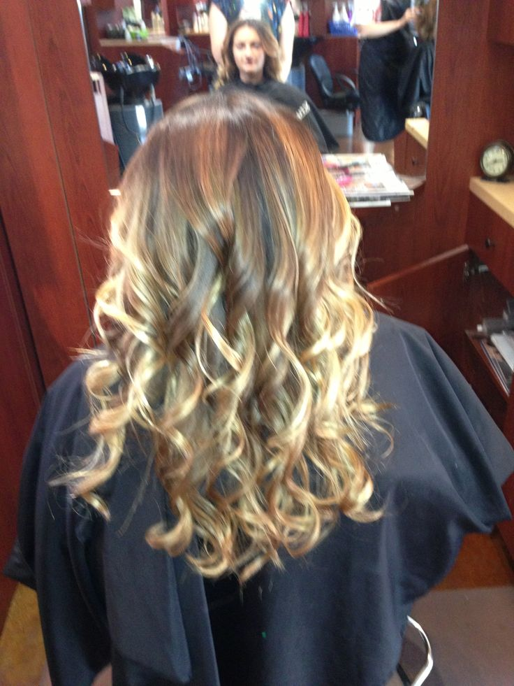 Hair by Kim G. Revive Salon & Spa, Apple Valley, MN. Ombre, long hair, color, curls. | Short ...