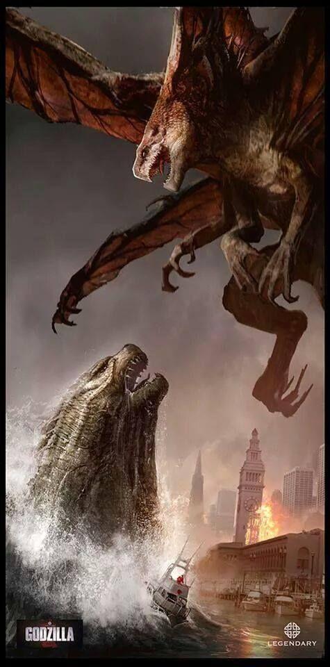 Epic Godzilla vs. Muto Panel | Godzilla & Friends | Pinterest