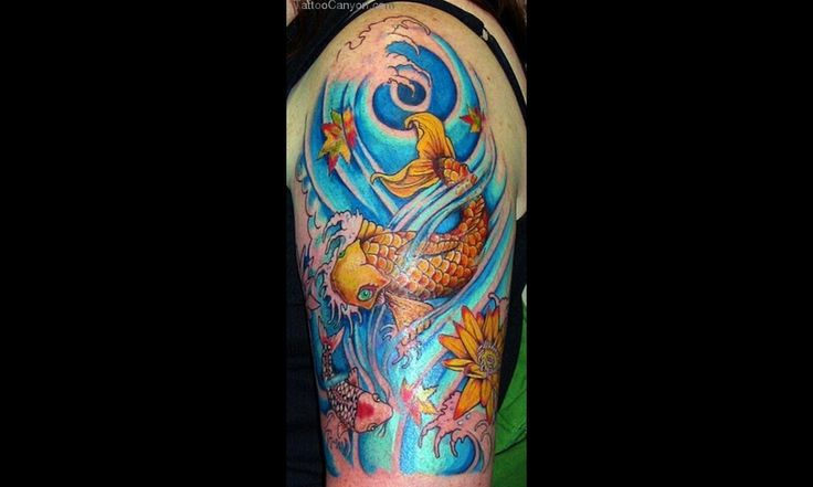 Mysterious Japanese Koi Fish Tattoo Designs Design Picture #13930
