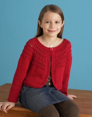 Knit this red sweater and you'll be sure to receive a lot of Valentines.