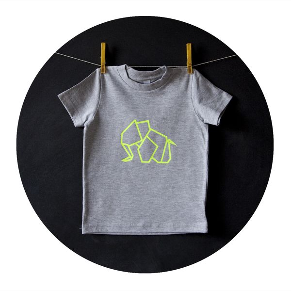 T-Shirt für Babys und Kinder mit Origami Elefant // shirt origami elephant by Kidivist via DaWanda.com