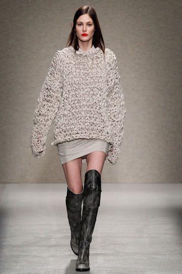 AF Vandevorst A/W 14. Knit and skirt with boots = BIG LIKE!