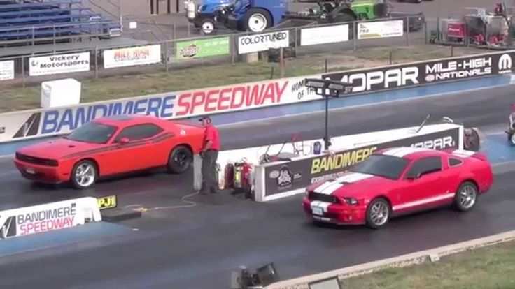 Драг Рейсинг Додж Челленджер и Шелби Мустанг Drag Race Dodge Challenger ...