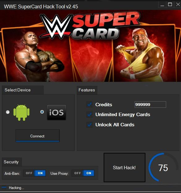 Free WWE supercard Hack Tool Codes