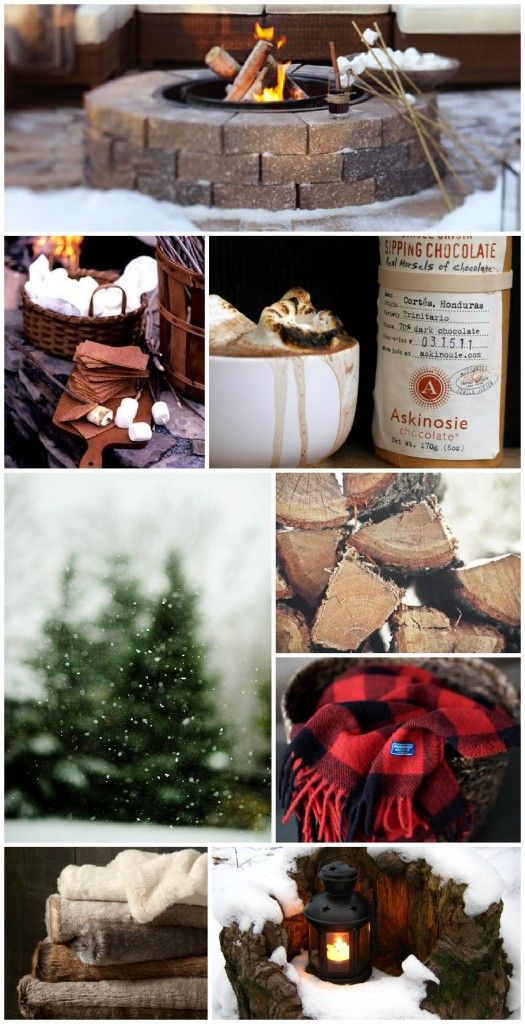Outdoor Winter Party Inspiration. Also have I fire pit going for s'mores.