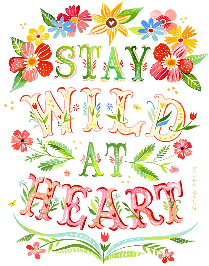 Wild at Heart  Vertical Print by thewheatfield on Etsy