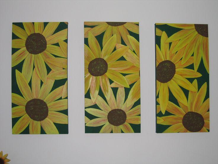 Three piece sunflowers