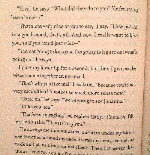 One of the best, funniest parts of Insurgent, in my opinion.