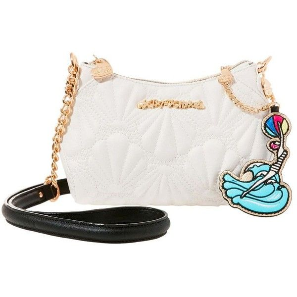 Cute Crossbody Bags & Unique Clutch Bags | Betsey Johnson ❤ liked on Polyvore featuring bags, handbags, clutches, betsey johnson, white crossbody handbags, white handbags, crossbody purses and white purse