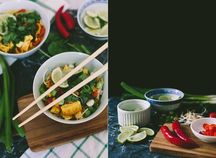 Curry met rijstnoedels