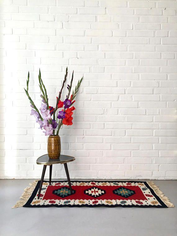 Vintage Teppich Kelim Orient Teppich Läufer Antiker