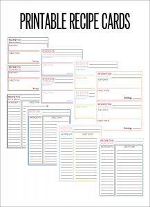 Best 25+ Printable recipe cards ideas on Pinterest