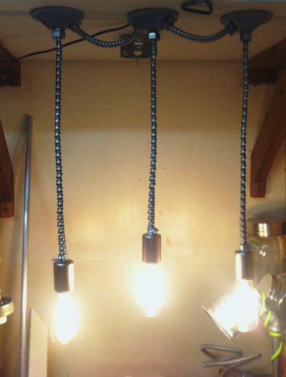 rustic industrial lighting. flex conduit track pendant light very raw rustic by industrial lighting loft