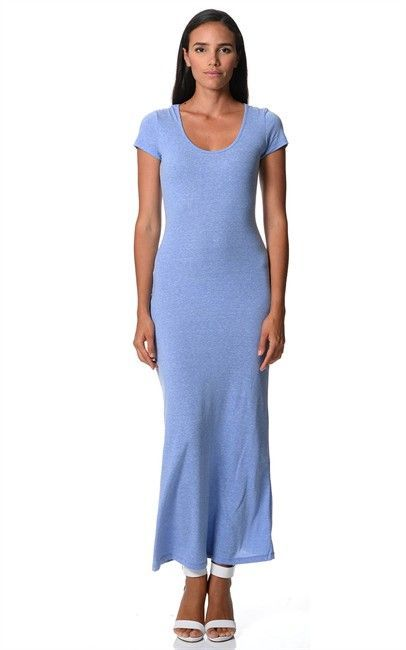 T Shirt Maxi in Pastel Blue $19  size 8