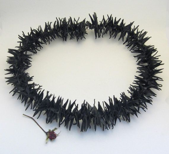 Spiky upcycled inner tube necklace. $27.00, via Etsy.