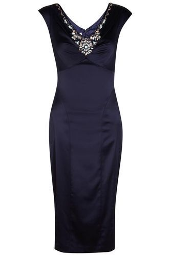 NEW Monsoon Precilla Cocktail Shapewear Navy Shift Dress RRP £169 SOLD OUT